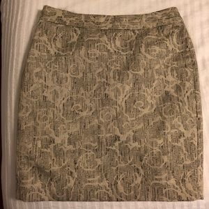 Petit pencil skirt; cream with shimmer!